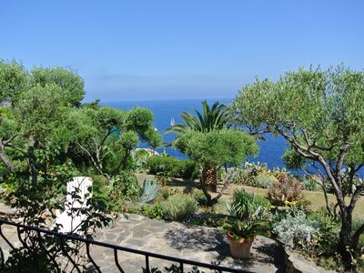 Photo for typical independent Corsican villa built with breathtaking sea views