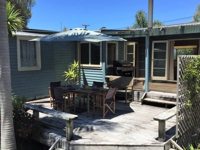 Photo for Classic Kiwi Bach with large sunny deck