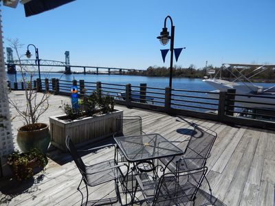 Photo for Riverfront condo! Step out onto the Boardwalk in Historic Downtown Wilmington