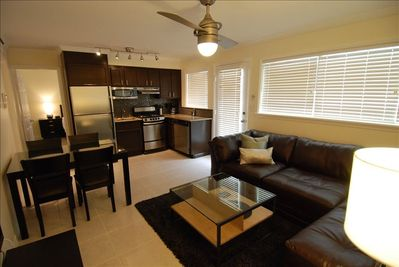 Living, Dining and Kitchen - completely renovated