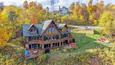 Photo for Waltzing Moose Lodge - Lake Access Pet Friendly Home with Hot Tub