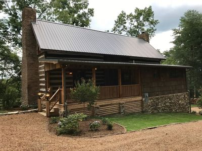 """Photo for """"New"""" 1800's Log Cabin Getaway • Kennedy Cabin At High Falls • Amazing Views"""