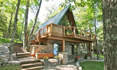 Photo for Beautiful A Frame Chalet On Lake Minocqua Chain