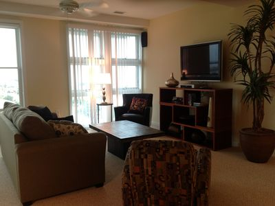 Completely renovated with new furniture and carpet with lots of seating.