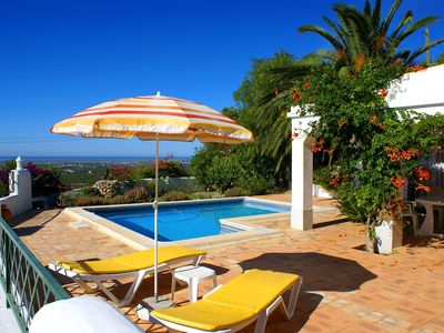 Photo for Garden Cottage of a Country Villa with Pool, Mountain and stunning Seaviews