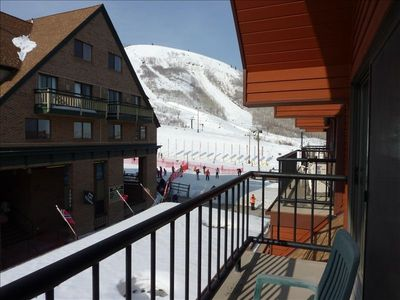 You could be here! On your balcony overlooking all or steps away on the slopes!