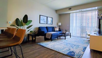 Photo for Upscale Condo, Washer and Dryer, Fireplace, King Bed, Close To It All