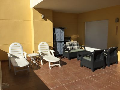 Photo for 2 bedroom apartment with two bathrooms, large terrace and aircon. VFT / MA / 00529