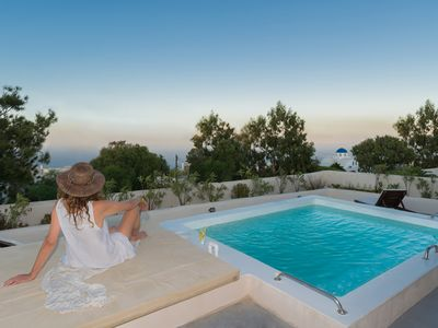 Photo for Villa Eronia, Santorini, 4 BED, 4 BATH, Jacuzzi, Private Terrace, Up to 10 Guests, with all the amenities of a first-class hotel !