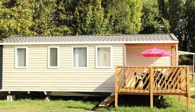 Photo for Camping L'île du Pont *** - 4-room mobile home 7/9 people