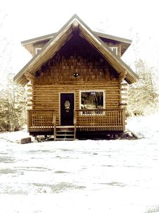 Photo for AK Vacation Cabins Woodland Hollow Log Cabin whole house