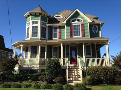 Photo for Modern Victorian, within town center, 2 blocks to beach, minutes walk to mall