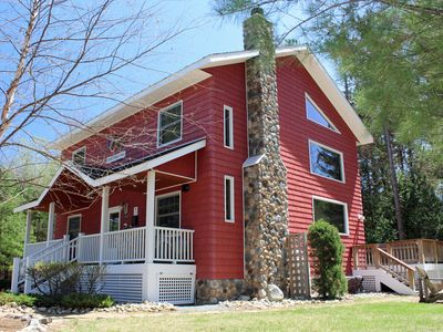 Photo for Olympic Dreams Chalet:  Luxury, Hot Tub, Dog Friendly, 1 mile to Whiteface, Sleeps 12, Sauna, & Fireplace