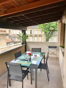 Photo for Spacious apartment with terrace hyper center ideal festival and holidays