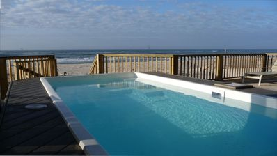 Gulf front pool right on the deck.