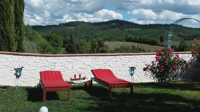 "Photo for Panoramic ""LA LUNA"" B & B in Chianti 15 minutes from Florence with garden"