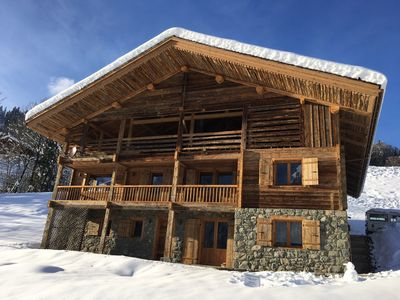 Photo for Charming chalet renovated 4 *, Grand Bornand, 205m2, close to the ski slopes