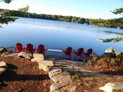 Photo for Lake Muskoka, Pine Island, Water Access Cottage, 2 Cottages Included; Ideal for 2 Families