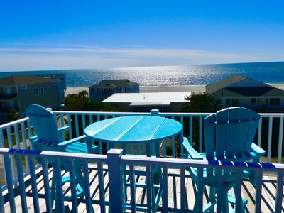 Photo for Ocean view! Dune Just Fine, elevator, sleeps 18. Private pool. Beach access across the street.