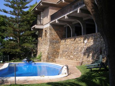 Photo for Salobrena: Villa with 3.500 m2 pine trees and tropical garden.