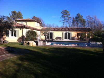 Photo for Luxury villa with private pool and tennis Callian 12 per.