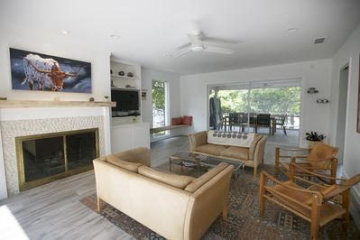 View of Living Room and Screened In Porch