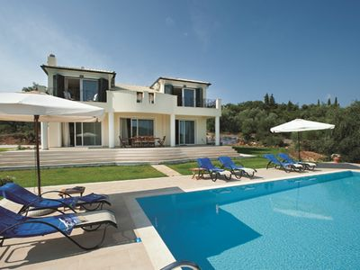 Photo for Rent Villa In Corfu, Private Pool, Luxurious, Gorgeous Views, In House Catering