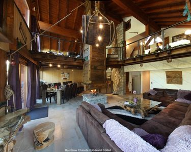 Photo for Exceptional chalet - foot of the slopes - Jacuzzi-sauna-hammam and private cinema