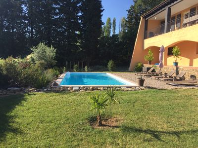 Photo for Cottage 4 pers with pool, in a haven of peace, 3 kms from the place aux herbs.