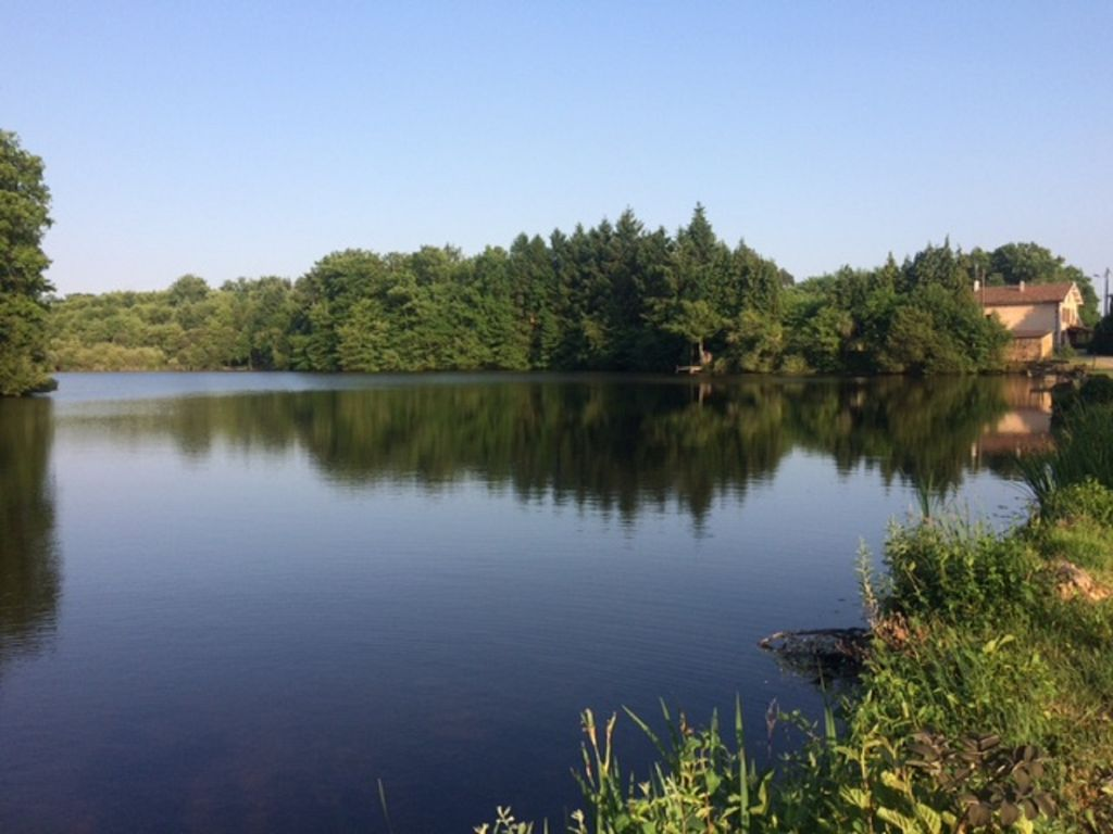 Spacious secluded gite with private fishing lake pool for Private fishing lakes