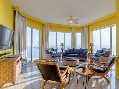 Photo for Gulf-Front, Three Bedroom Emerald Isle Condo in Pensacola Beach! Amazing Resort Amenities!