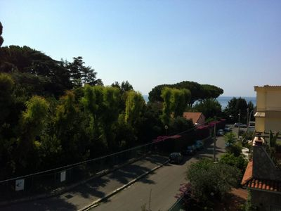 Photo for CASA ENZA: large apartment, with panoramic terrace, 50mt from the sea,