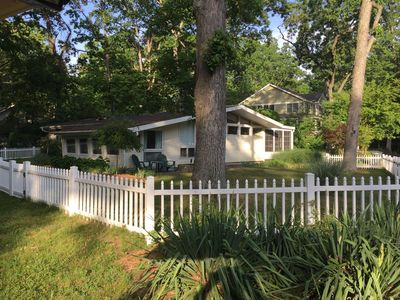 Photo for Hot Tub on enclosed porch plus fenced in large yard! 2 blocks to the lake & park