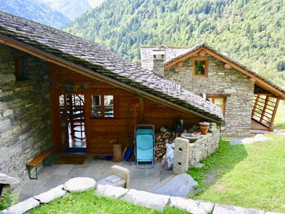 Photo for charming stone chalet with mountain views
