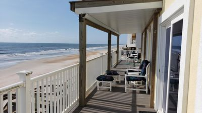 Photo for Breathtaking Beach Front Home Minutes From Historic St Augustine & Restaurants