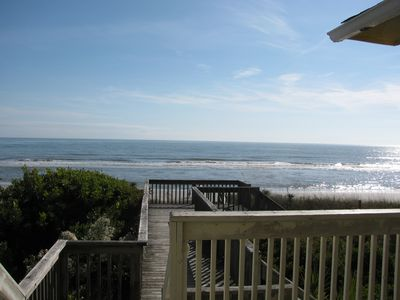 Photo for Folly Beach Oceanfront Private Boardwalk Large Open Floor Plan