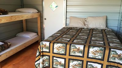 Photo for Glamour Camping Cabin, All Linens, Hot Showers, and Stunning Views