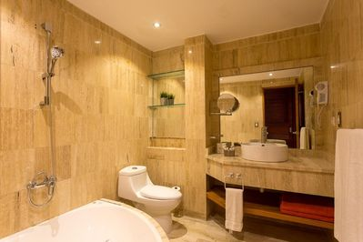 One of the luxury and spacious bathrooms