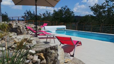 Photo for SAINT ALBAN AURIOLLES, air-conditioned villa with private pool for 6 to 8 people