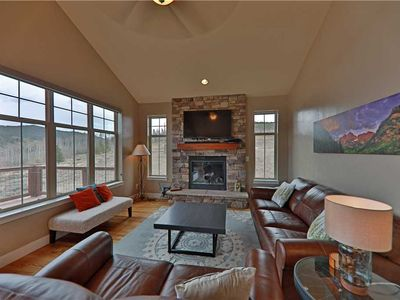 Photo for Serene home with breathtaking views; heated pool and hot tub access; and trails from the back door.