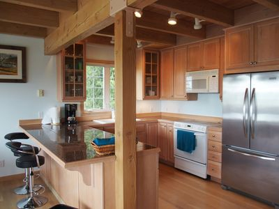 Kitchen includes pots, pans, dishes and utensils. Just add food!