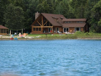 Photo for Spacious Waterfront Home in Hessel - Perfect for large families year round!