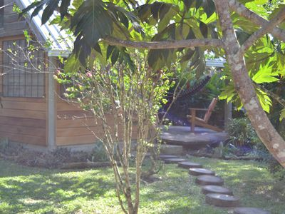 Photo for Hummingbird Rest a fully equipped cabana in subtropic garden