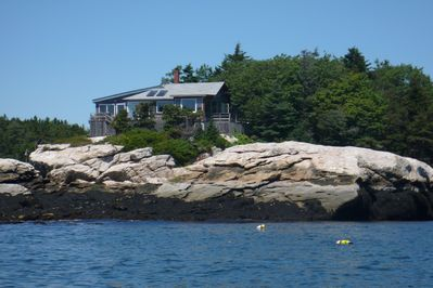 house viewed from the cove to the east