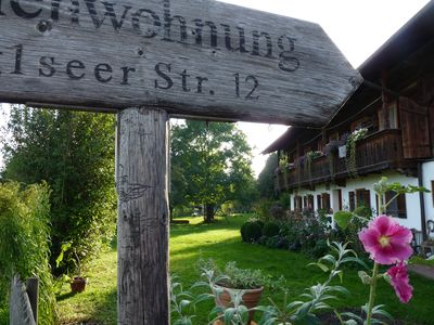 Photo for Secluded ✶✶✶✶ apartment in country house style near Chiemsee
