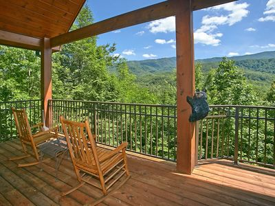 Photo for Secluded 2 Bedroom Cabin with Fabulous Views of the Great Smoky Mountains