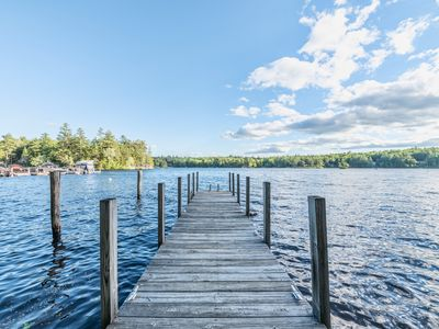 Photo for Pet Friendly waterfront home with 30' Boat Dock, WiFi, and rowboat is a perfect family getaway