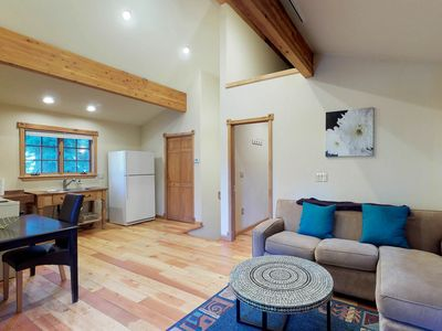 Photo for NEW LISTING! Cute and cozy guest house near the lake, skiing, and hiking!