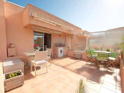 Photo for T2 apartment with 20 m² sunny terrace and unclosed garage