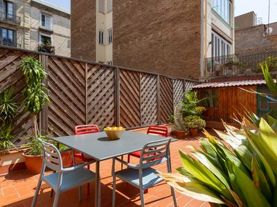 Photo for Feel Gràcia's Heartbeat! Free wifi+private Terrace, ideal for families!